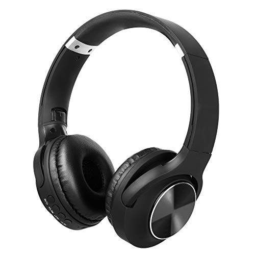 RICHVOLT Wireless Bluetooth Over Ear Stereo Foldable Noise Cancelling Headphones,Wireless and Wired Mode Headsets with Soft Protein Earmuffs,SD/TF Card Slot, Built-in Mic for Mobile Phone PC Laptop Image 8