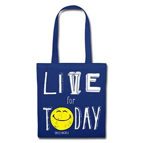 Spreadshirt SmileyWorld Live For Today Stoffbeutel Royalblau