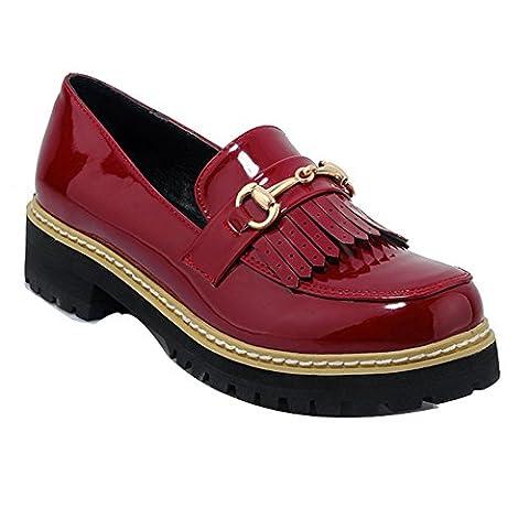 Ladola Dgug00341, Chaussures à lacets femme - rouge - bordeaux,