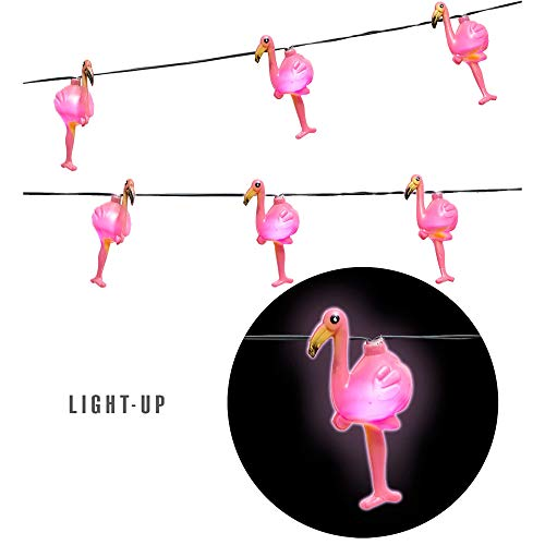 (Widmann 08180 Flamingolichterkette, Unisex– Erwachsene, Rosa)