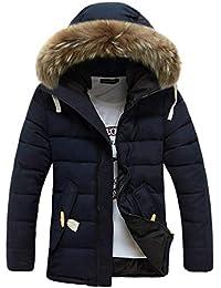 xiaozhao Giacche Colletto da Uomo Invernale Abbigliamento da Uomo  Abbigliamento da Uomo Giacca Imbottita in Cotone Cashmere E… 355f1e0d0a15