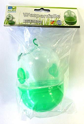 Trampa para avispas verde 12 cm para colgar conjunto de 3