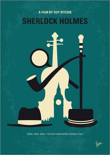 Poster 30 x 40 cm: No555 My Sherlock Holmes minimal movie poster di chungkong - stampa artistica professionale, nuovo poster artistico