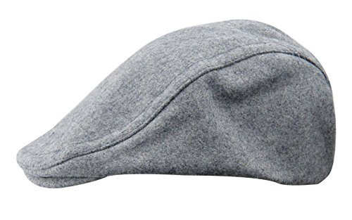 dd4ead6e6dd259 YOYEAH Wool Blend Newsboy Ivy Solid Color Hat Hunting Stretch Newsboy for  Men Women - Grey