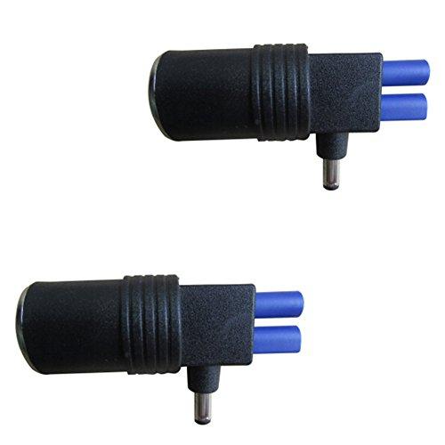 5.5mm DC und EC-5-Zigarettenanzünder-Adapter für 12 V Car Jump Starter Kit Packung mit 2 Stück (Jump-starter-kit)
