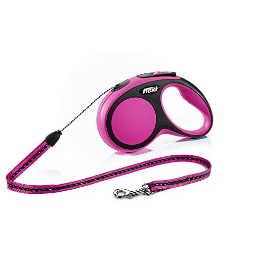 Trixie Flexi New Comfort, Cuerda Enrollable, S: 8 M, Rosa