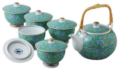 Arabesque mit Deckel Tee-Sortiment 56039 dunkelgr?n Saikaitoki (Japan Import / Das Paket und das Handbuch werden in Japanisch) Arabesque Tee