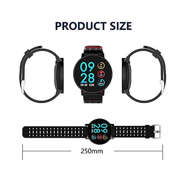 TOOGOO T3 Smart Watch Ip67 Impermeable Smartwatch Presión Arterial Monitor de Ritmo Cardíaco Rastreador de Ejercicios Hombres Wearable Pulsera Inteligente (Negro) 3