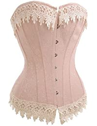Dissa Charm rose bustier corset,rose