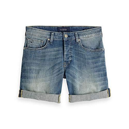 Scotch & Soda Herren Shorts Ralston Than Green, Blau 2648, W36 (Herstellergröße: 36)