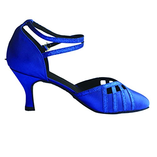 Jig Foo Damen Pumps Dance Schuhe Blau - blau