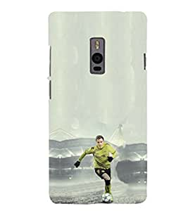 EPICCASE Goalkeeper in Green Jersey Mobile Back Case Cover For OnePlus 2 (Designer Case)