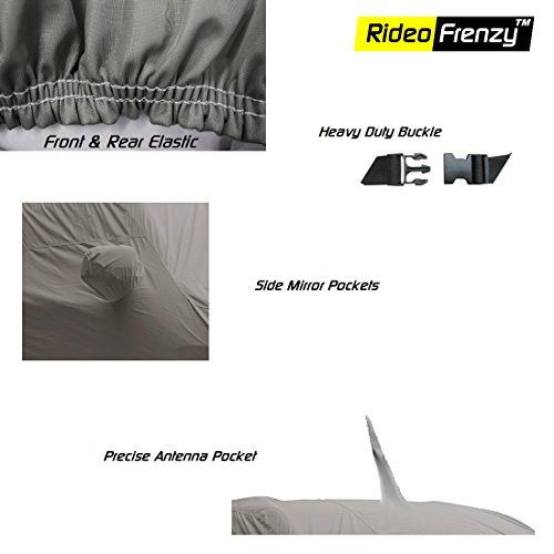 RideoFrenzy Car Cover for Hyundai XCENT with Mirror & Antenna Pocket (UV Protected)