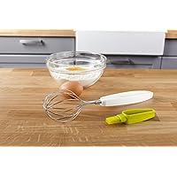 Tomorrow's Kitchen 4665660 - Batidor de acero inoxidable y cepillo para glasear en un solo espacio