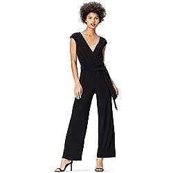 find. Wrap Front Combinaison Femme, Noir (Black), 36 (Taille Fabricant: X-Small)