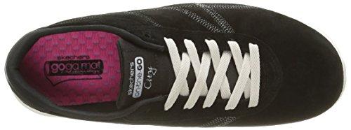 Skechers On the GO City Posh, Baskets Basses Femme Noir - Noir (noir/marron clair)