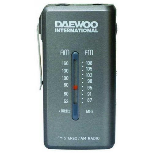 Daewoo DRP-9 Portable Analog Gray - Radio (Portable, Analog, Am, FM, 3,5 mm, Gray, AAA)