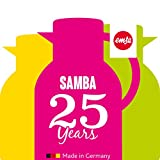 Emsa 507075 Isolierkanne, 1 Liter, Quick Press Verschluss, 100% dicht, Transluzent Himbeer, Samba - 2