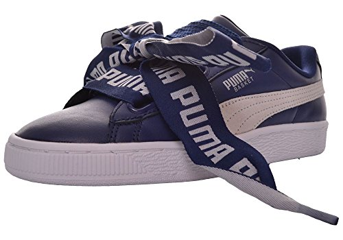 Puma Damen Basket Heart Patent Sneaker Schwarz