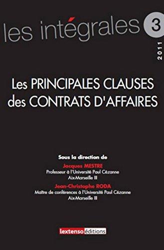 Les Principales clauses dans les contrats d'affaires