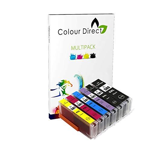 Colour Direct - 1 Einstellen + 1 Foto blau Kompatibel Tintenpatronen Ersatz Zum Canon PGI-580 CLI-581 Pixma TS8150 TS8151 TS8152 TS8250 TS8251 TS8252 TS9150 TS9155 Drucker -