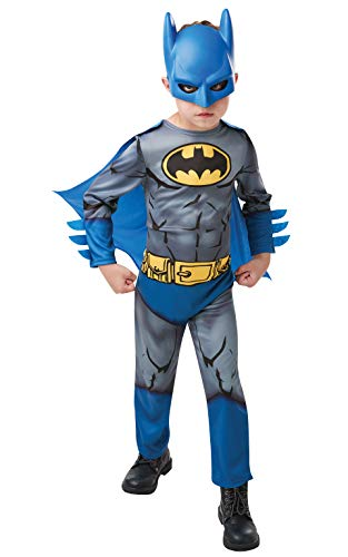 Rubie's 300028 5-6 Faschingskostüm Jungen, - Batman Cartoon Kostüm