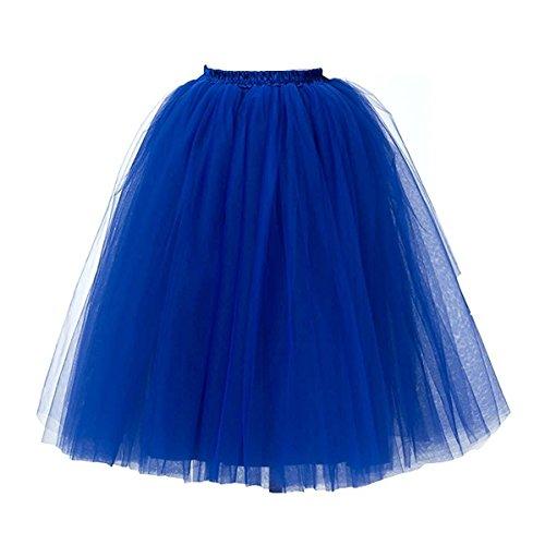 KekeHouse® 1950er Damen Petticoat Vintage Retro Reifrock Tutu Rock Petticoat Underskirt Crinoline für Rockabilly Kleid (Eisen Kostüm Frau)