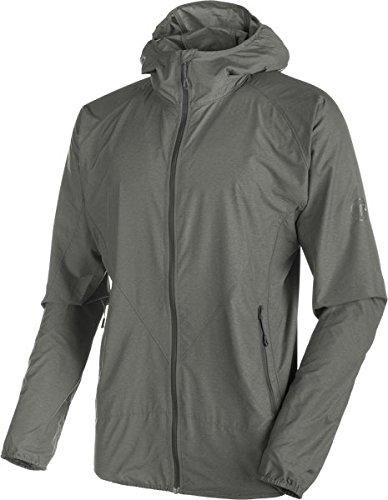 Mammut Crag WB Hooded Jacket Men (Softshell Jackets/Vests), Farbe:titanium melange;Größe:S