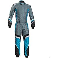 Sparco 002336GRSCE46 Mono para Karting, Gris/Azul, 46