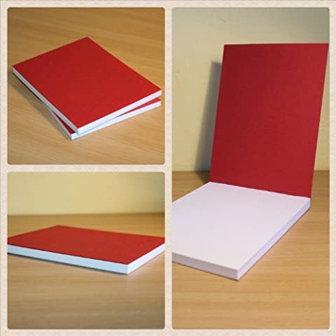 80 Blank Sheets A5 Handmade High Quality - Red Notebooks-Notepads-Sketchbooks-Drawing Books
