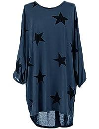 Damen Loose Asymmetrisch Sweatshirt Long Top Oversize Pullover Baggy Oberteile T-shirt Bluse