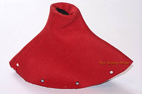 Audi TT MK11998–2006Gear ghetta personalizzata Shift Boot rosso vera pelle scamosciata con cuciture rosse Nuova