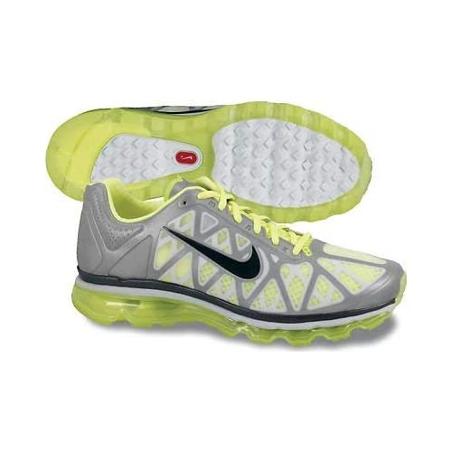 41VNQF0i7nL. SS500  - Nike Air Max 2011 Metallic Silver Volt Green Mens Running Shoes 429889-015