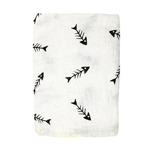 Newborn Infant Baby Kids Swaddle Soft Sleeping Blanket Wrap Bath Towel (D)