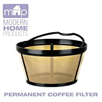 Permanent Basket-Style Gold Tone Coffee Filter Designed for Mr. Coffee 10-12 Cup Coffeemakers