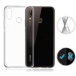 Huawei P20 Lite Hülle Silikon, Huawei P20 Lite Cover, Avidet Ultra Dünn Durchsichtige Handyhülle Soft Flex Silikon Tpu Case Für Huawei P20 Lite - Transparent