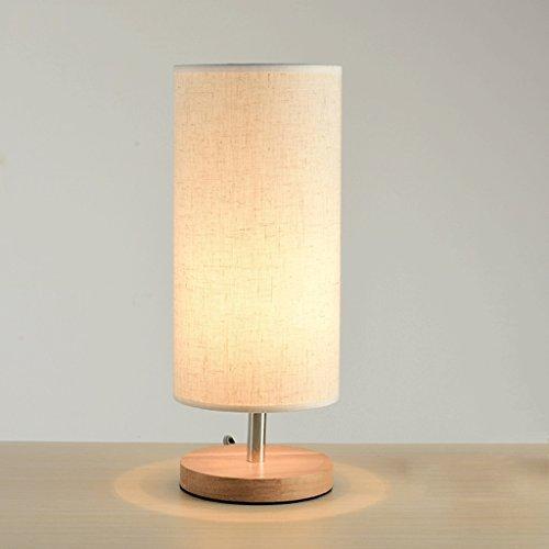 CXQ Moderne einfache kreisförmige Lampenschirm Massivholz Schreibtischlampe für Arbeitszimmer Wohnzimmer Schlafzimmer Nachttischlampe - Lampenschirme Kreisförmige