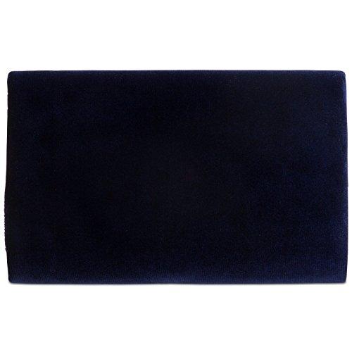 Caspar Ta375 Elegante Pochette Da Sera In Velluto Da Donna / Borsa Da Sera Con Lunga Catena Blu Scuro