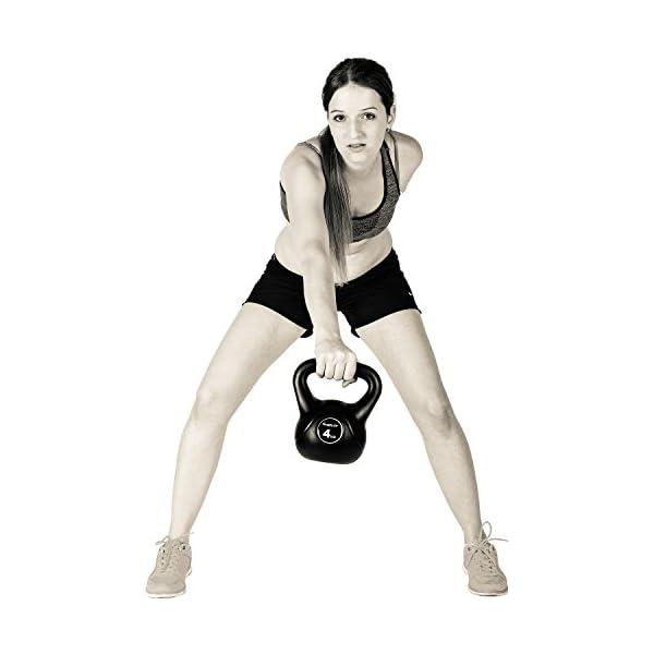 Movit/® Mancuerna de Bola Kettlebell con Revestimiento de pl/ástico Que Protege el Suelo Peso de la Bola en 15 Variantes mancuerna de 1 kg a 24 kg