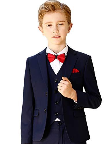 ELPA ELPA Graue Anzug Jungen Smoking Anzug Kinder Kostüme dünne Klage Formelle Kleidung, Blau, 6