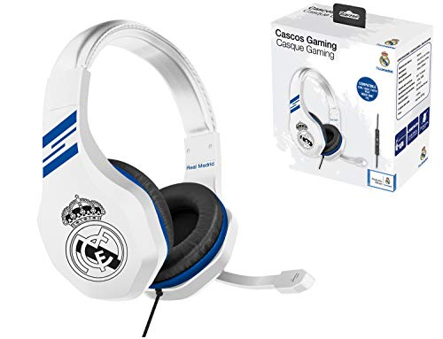 Real Madrid Auriculares gaming - accesorio gamer para PS4, PS4 Pro, Xbox One, PC