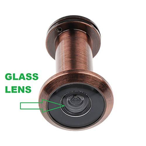 EYE BERRY Antique 200 Degree Door Eye Viewer Perfect Matching Door Lens for Main Door Handles (35-58 mm, Brass)