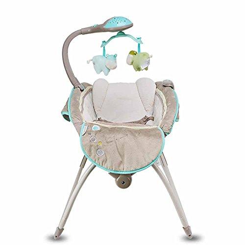 GUO Baby-Wiege Babywippe aufklappbares Kinderbettchen elektrische Shaker Musik in den Schlaf zurück Bett