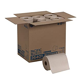 Pacific Blue Basic Recycled Paper Towel Roll (Previously branded Envision) by GP PRO, Brown, 26401, 350 Feet Per Roll, 12 Rolls Per Case