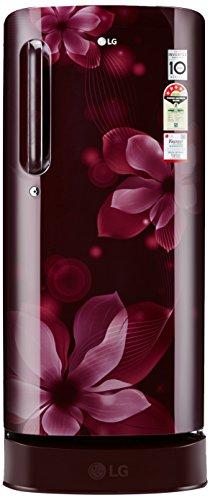 LG 190 L 4 Star Direct-Cool Single Door Refrigerator (GL-D201ASOX.ASOZEBN, Scarlet Orchid)