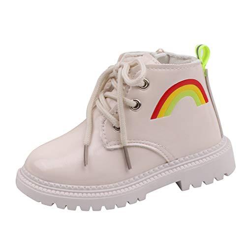 WEXCV Unisex-Kinder Boots Stiefel Herbst Winter Stiefeletten