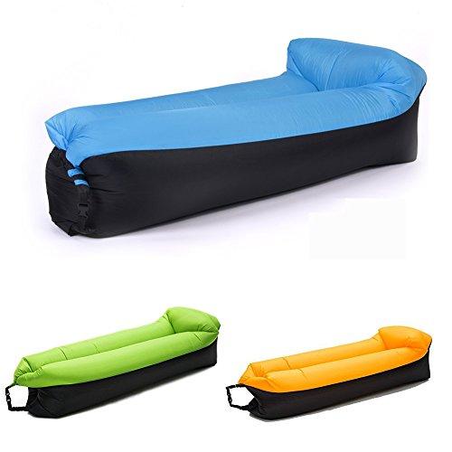 Newmum gonfiabile lounger divano sacco a pelo, portatili compressione lettini ad aria, ideale per rilassarsi, campeggio, spiaggia, piscine, camping ecc (blu)