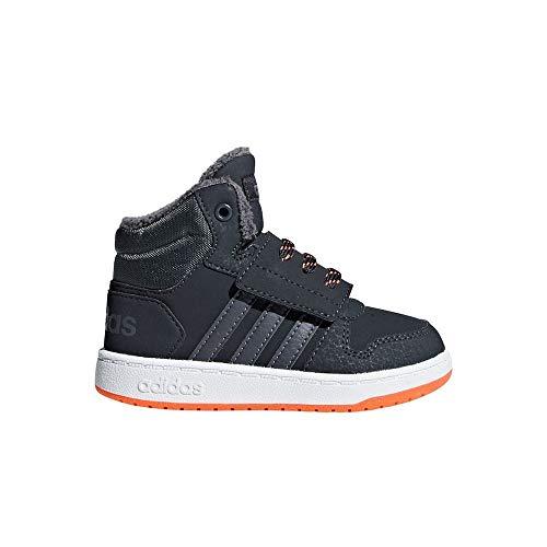 adidas Unisex-Kinder Hoops Mid 2.0 I Fitnessschuhe, Grau (Carbon/Gricin/Naalre 0), 25.5 EU