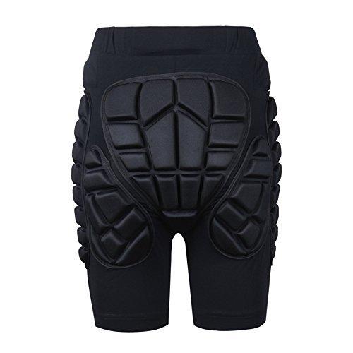 Soared 3D Protection Hip Butt Eva Paded Short Pants Protective Gear Guard Impact Pad Ski Ice Skating Snowboard Schwarz, schwarz, Kids X-Small -