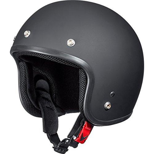 Delroy Motorradhelm, Halbschalenhelm, Jethelm Jethelm 1.2 Mattschwarz S, Unisex, Chopper/Cruiser, Sommer, Thermoplast, matt schwarz